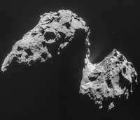 Comet 67P, the target of the Rosetta mission