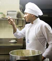 If chefs want to create the perfect meal they don't just need to work in the kitchen.