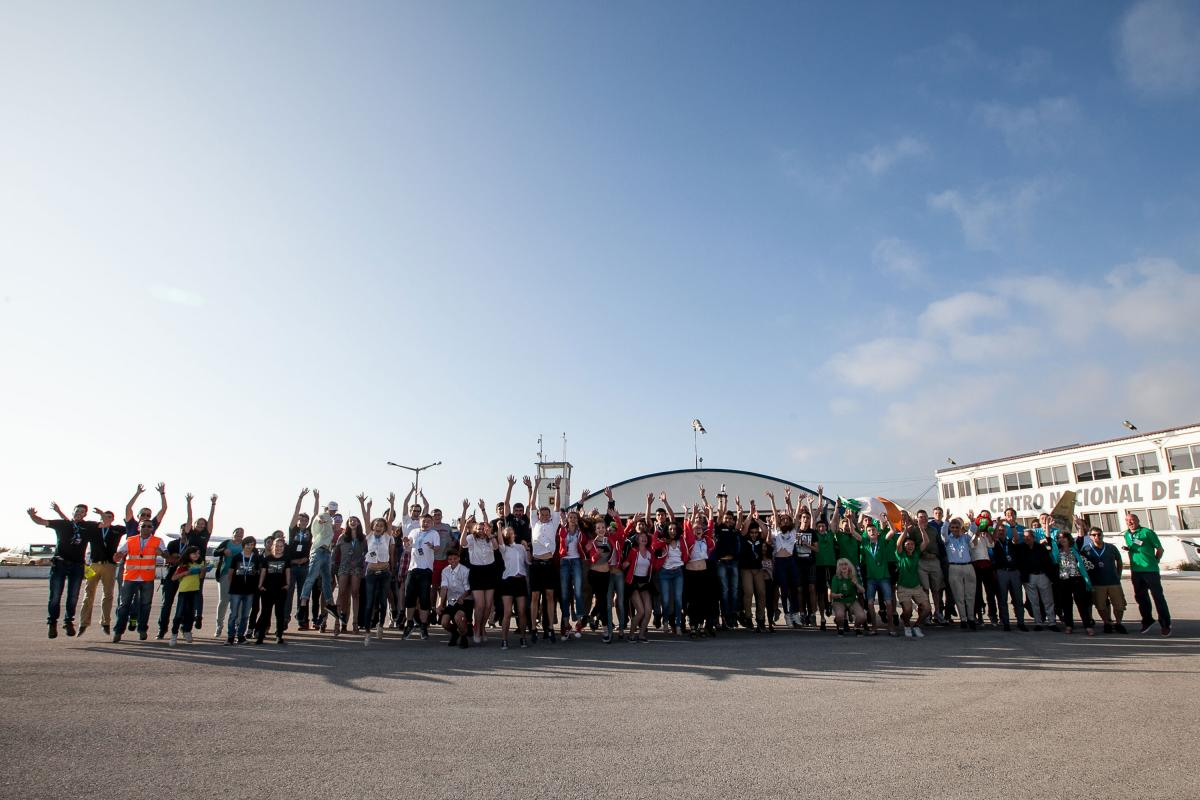 The European CanSat Competition participants and crew achieve lift-off!