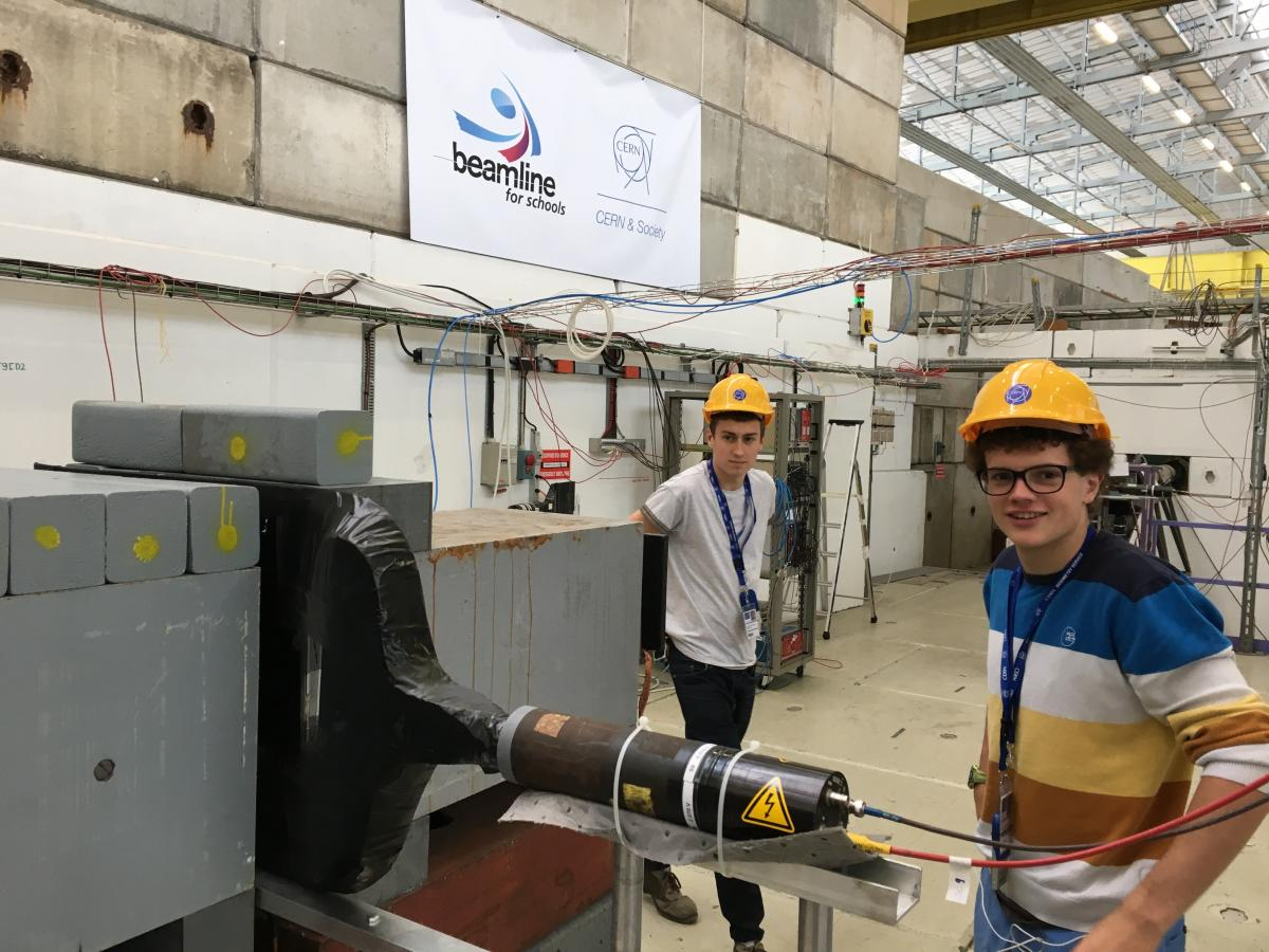 A beamline area at CERN is made available to students