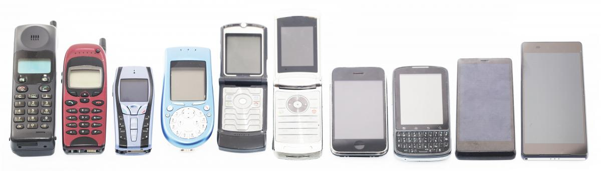 Generations of mobile phones