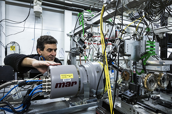 Scientist Mohamed Mezouar, who is responsible for beamline ID27