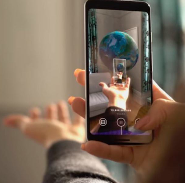 CERN's Big Bang app allows users to explore the emergence of the Universe using augmented reality.