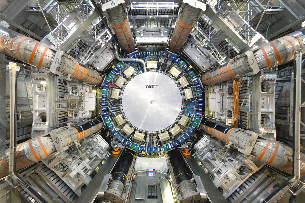 The ATLAS experiment (pictured here) was one of two experiments at CERN that provided the first evidence of a Higgs boson particle in 2012