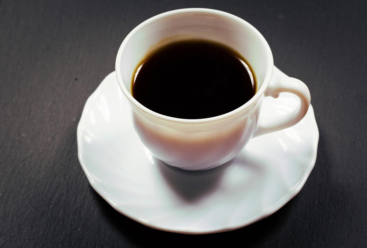 A small cup of black coffee has a water footprint of about 130 litres – more than four times the value for a cup of tea.