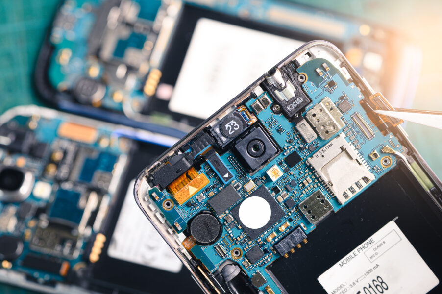 The inside of a modern smartphone